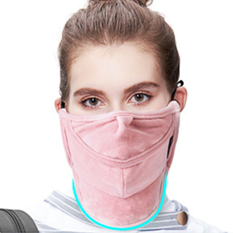 Women Men Anti-Dust Windproof Winter Warm Face Mouth Mask Open Nose Neck Gaiter New 2019