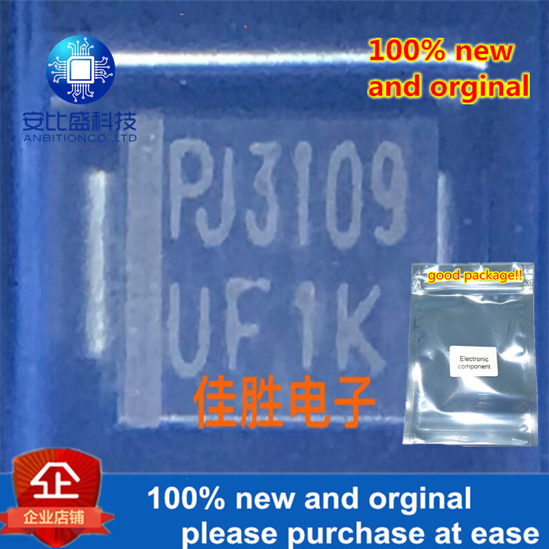 100pcs 100% New And Orginla 1A800v Ultrafast Recovery Diode DO214AA Silk-screen UF1K In Stock