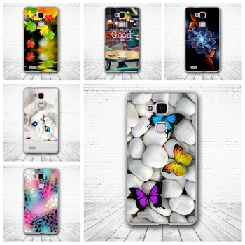 For Huawei Ascend Mate3 / Mate7 case Luxury Silicon TPU 3D Printing Protective back Covers for Huawei mate 3 amte 7 capa Coque image
