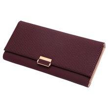 Lozenge Wallet Women Cute Long Purse Leather Hasp Ladies