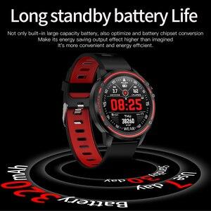 Image 5 - Reloj inteligente deportivo L8 L9 IP68 para hombre, resistente al agua, ECG presión arterial mediante PPG, control del ritmo cardíaco, para Android IOS