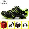 TIEBAO обувь для велоспорта  мужские кроссовки  педаль spd  набор  обувь для горного велосипеда  самоблокирующаяся обувь из суперволокна  mtb  Sapatos ...