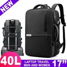 Podróż 17 Cal plecak na laptopa dla mężczyzn kobiet torba 15.6 Notebook z USB Charge Bagpack Outdoor Bussiness bagaż szkolny plecak