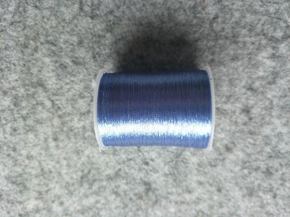 Металлическая нить для вышивки, аксессуары для одежды DIY, основные 15 видов цветов на выбор, нить для шитья, 1 шт - Цвет: wathet