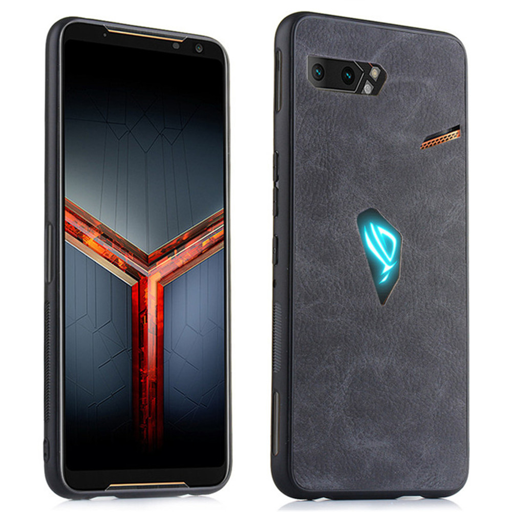 For Asus ROG Phone II 2 ZS660KL Luxury PU Leather Hard Back Cover Case For Asus ROG2 ZS660KL ZS ZS660 660 660KL KL Asus I001DA