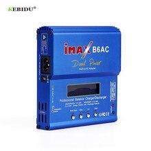 Kebidu imax b6 ac 80 w b6ac lipo nimh equilíbrio carregador de bateria rc digital lcd tela descarregador ue eua fonte alimentação
