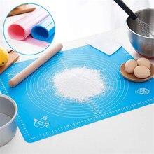 Esteira do cozimento do silicone para a massa de rolamento da pastelaria com medidas não deslizamento esteiras tabela folha de cozimento suprimentos para assar o bolo da pizza