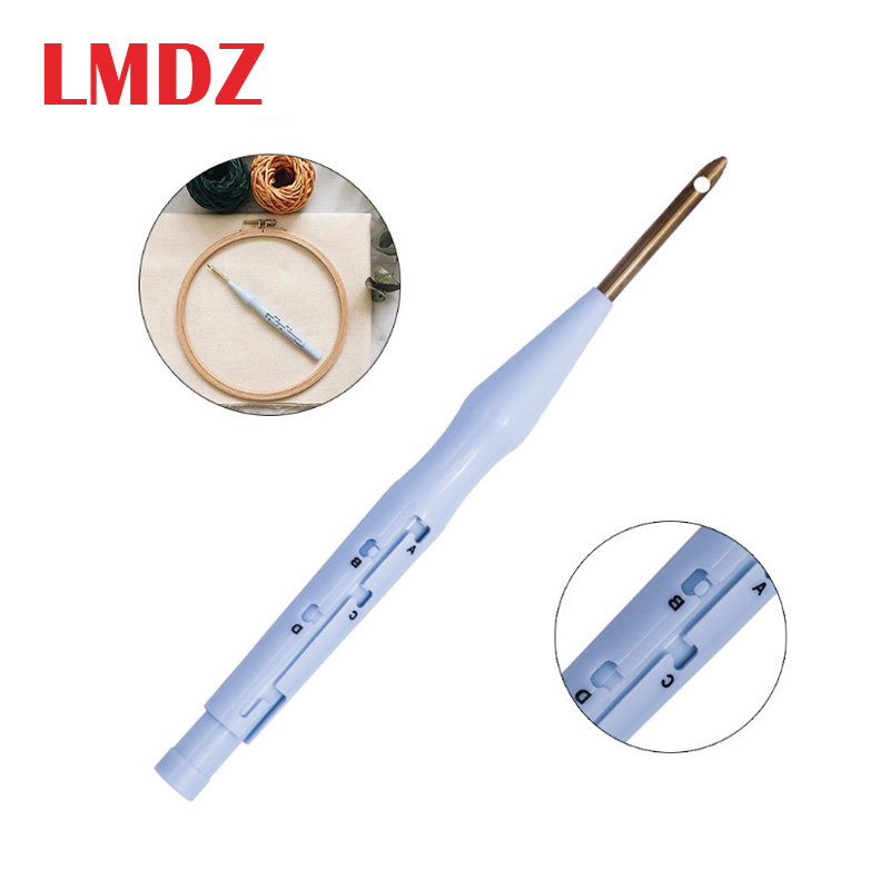 LMDZ Sewing Punch Needle Embroidery Stitching Needles Practical Threader Guide DIY Craft Tool For Weaving Craft Needle Tools