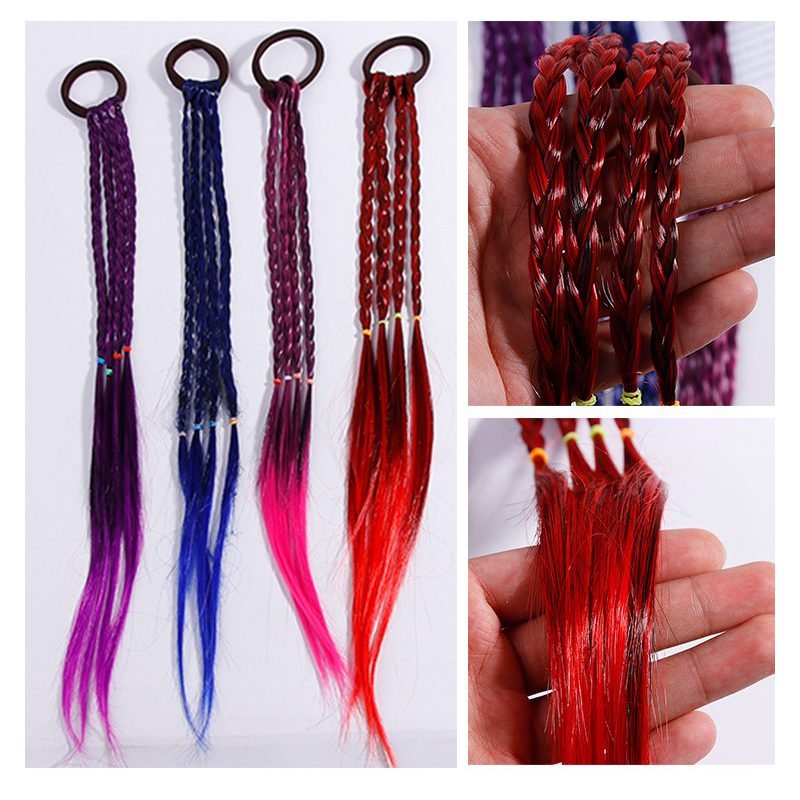 Kids Hair Band Rubber Band Young Girls Hair Rope Colorful Hair Accessories 3Pcs