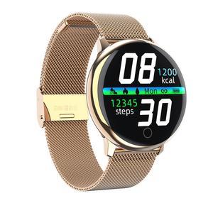 Image 2 - BELOONG Q16 w pełni z okrągłych sterowanie dotykowe ciśnienia krwi tętno fizjologiczne opaska monitorująca inteligentny zegarek fitness smart watch Q9 Q8