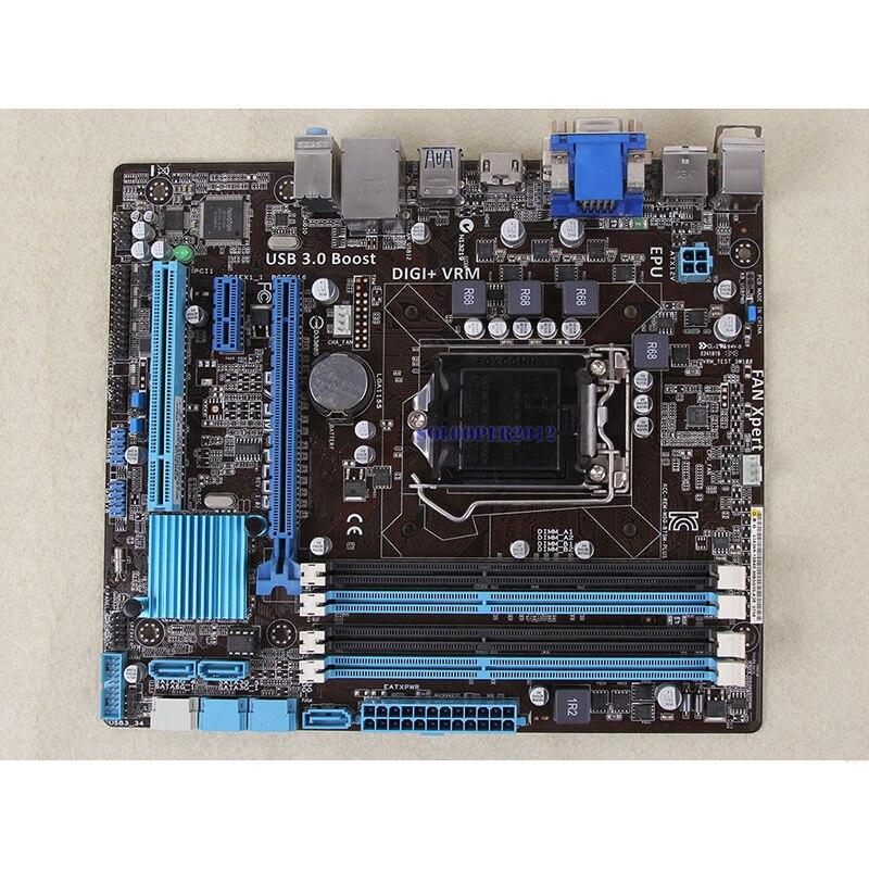 For ASUS B75M-PLUS Desktop motherboard MB B75 LGA 1155 micro ATX DDR3 32GB SATA3.0 USB3.0 100% fully Tested Free shipping 4