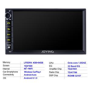 "Image 5 - 7 ""כפול 2Din אוקטה Core אנדרואיד 8.1 ראש יחידת רכב האוניברסלי רדיו סטריאו מולטימדיה GPS לא DVD נגן מובנה 4G מודם DSP"