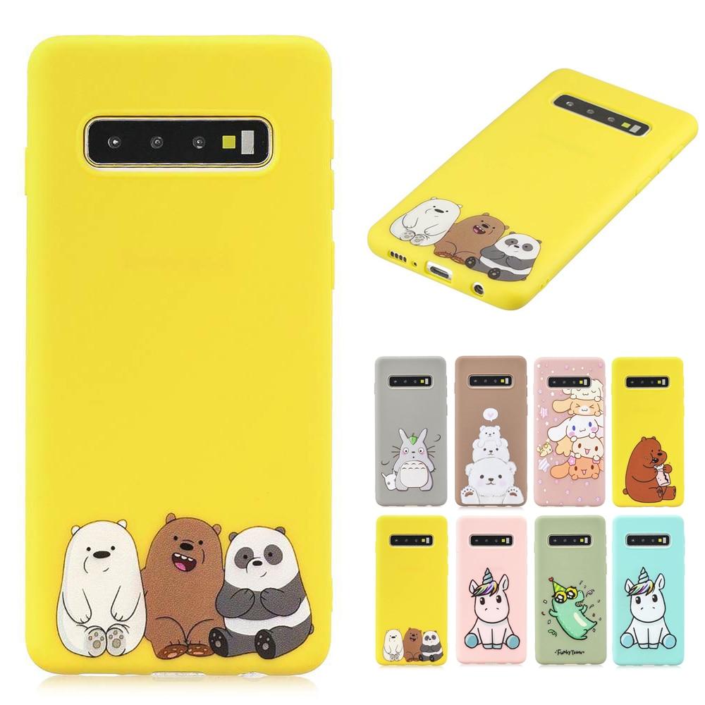 Unicorn Owl Panda Cat Painted TPU Cover For Samsung Galaxy S10 S10E S9 S8 Plus Funny Cartoon Phone Case