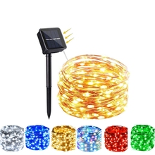 Christmas-Party-Light String-Use Party-Garlands Romantic Led Holiday Garden Solar Outdoor