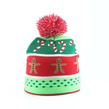 Christmas Hat Cotton Knitted Beanie Hat For Kids Children Winter Cap Christmas Gifts Party Decoration New Year 2019(China)