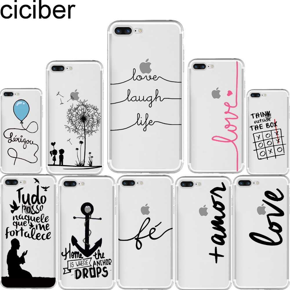 ciciber Portuguese Words Amor Love Design Case for iphone 11 Pro Max 6 6S 7 8 plus 5S SE X XS XR MAX Soft Silicone Phone Cover