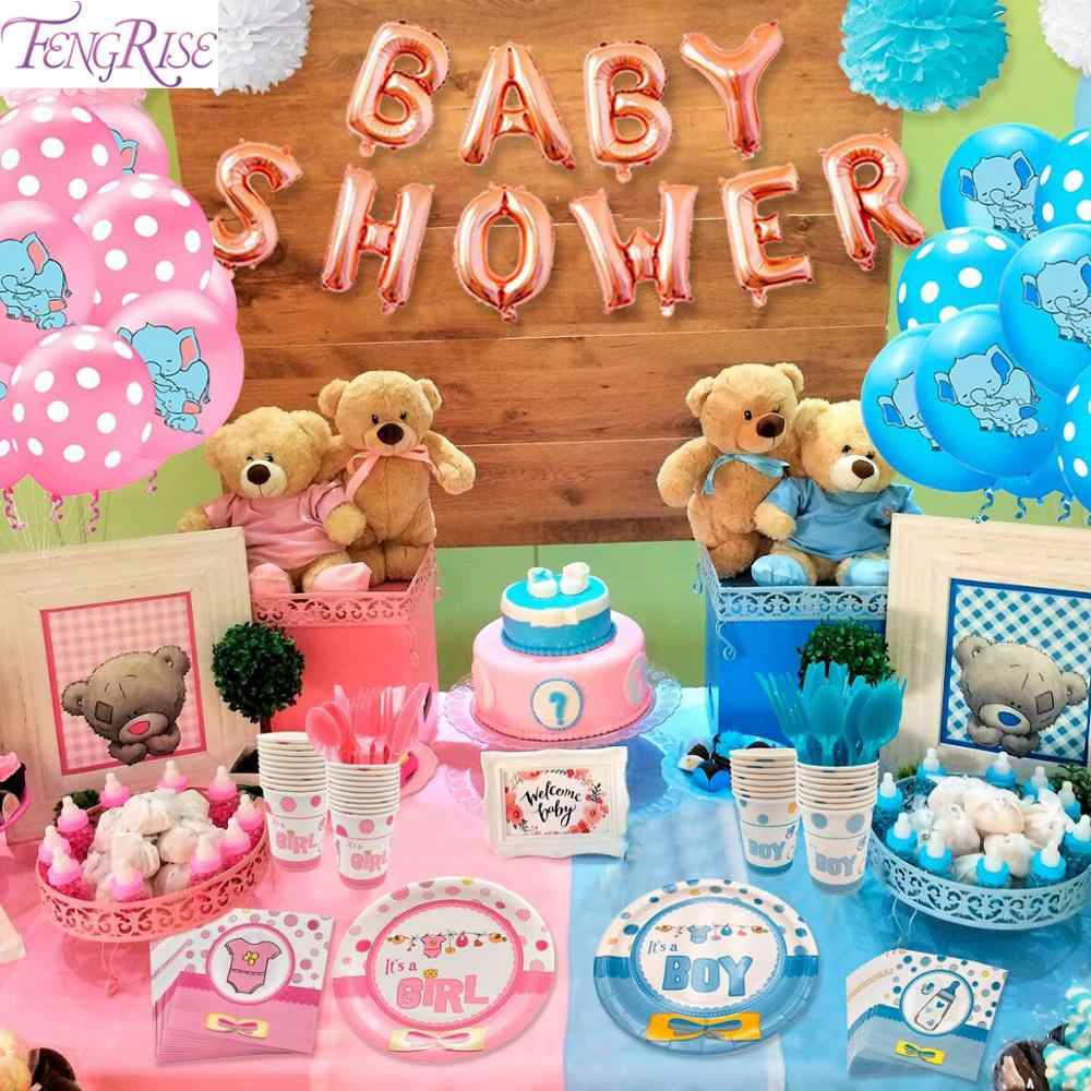 Balloons Elephant Baby Shower Boy Girl Decorations Baby Gender Reveal Kids Birthday Party Babyshower Christening Decor Baptism