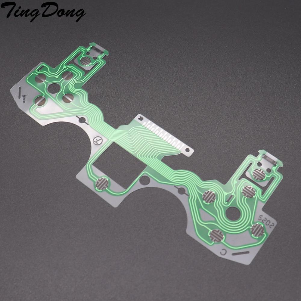TingDong 2pcs For Playstation 4 PS4 020 2.0 Controller Repair Parts PCB Circuit Ribbon For PS 4 Button Ribbon Circuit Film