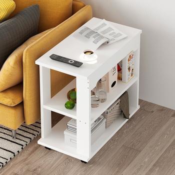 Nowoczesne lite drewno stoliki ruchome sofy stoliki kreatywny przy łóżku stół meble do salonu domowa Sofa stolik tanie i dobre opinie CN (pochodzenie) Drewna Z litego drewna China 80*40*55cm Europa i ameryka Rectangle Montaż