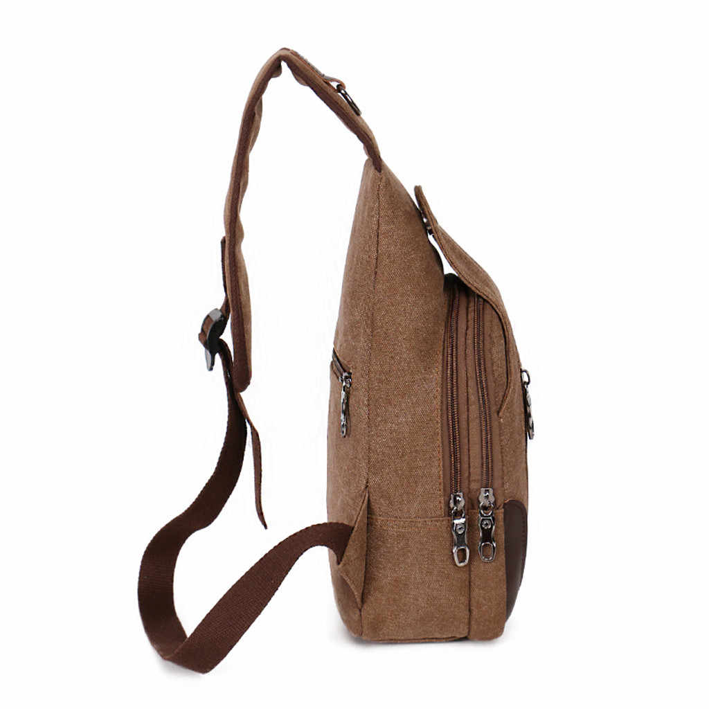 Fanny Pack Men 2019 Neutral USB Outdoor Canvas Headphones Hole Messenger marsupio uomo nerka torebka waist bags men travel