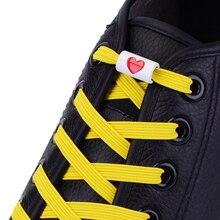 Новый эластичный балетки шнурки без галстука шнурки пряжка металл любят дети взрослых Мужская обувь кроссовки строки шнурки
