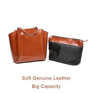 Image 3 - DIENQI haute qualité doux en cuir véritable femme sacs à bandoulière grande capacité concepteur femmes en cuir sacs à main dames fourre tout sacs à main