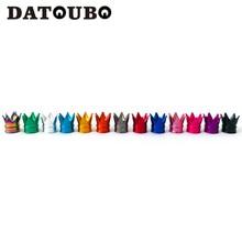 DATOUBO 4 قطعة جديد وصول الملونة الألومنيوم تاج سيارة قضيب صمام إطار قبعات الإطارات الهواء الغبار قبعات شاحنة دراجة عجلة سيارة غطاء صمام