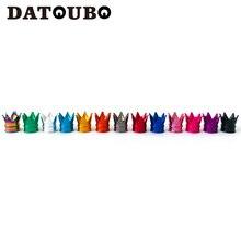 DATOUBO 4Pcsใหม่มาถึงที่มีสีสันมงกุฎอลูมิเนียมรถยางวาล์วCapsยางAir Dust Capsรถบรรทุกล้อวาล์วรถหมวก