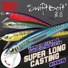 2020 SFT 90mm Stickbait Sinking Minnow Swing Lip System Wobblers Swiftbait Fishing Lures For Trout Bass Pike Pencil Bait