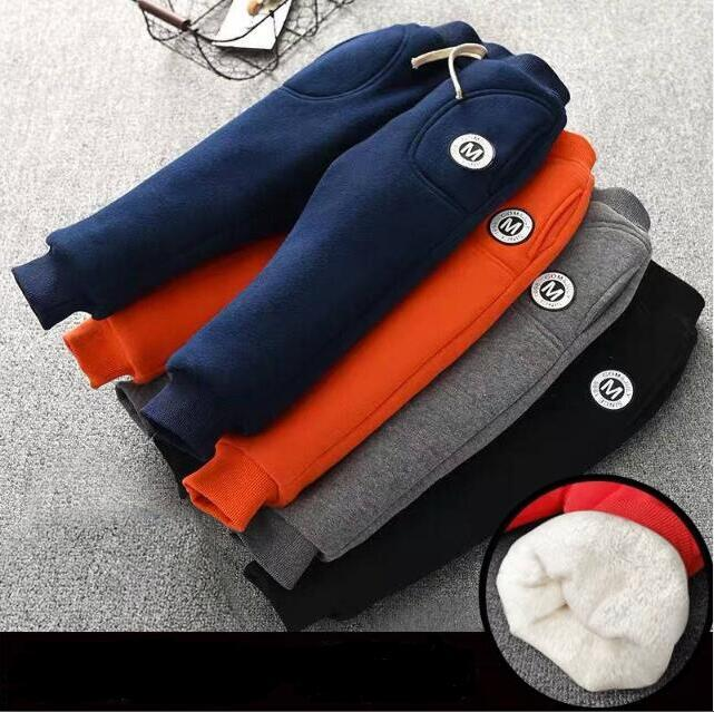 Toddler Girls/boys Autumn & Winter Baby Warm Leggings Pants Elastic Solid Casual Kids Trousers