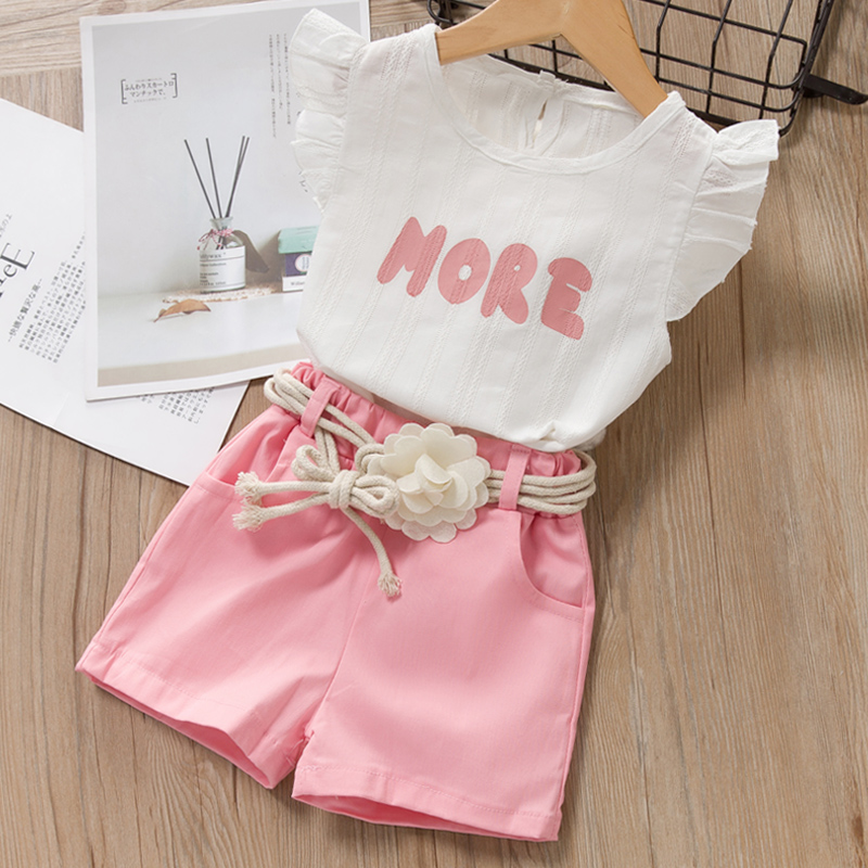 Hc28bffec2c1b42519e82531afb8cb613o Menoea Girls Suits 2020 Summer Style Kids Beautiful Floral Flower Sleeve Children O-neck Clothing Shorts Suit 2Pcs Clothes