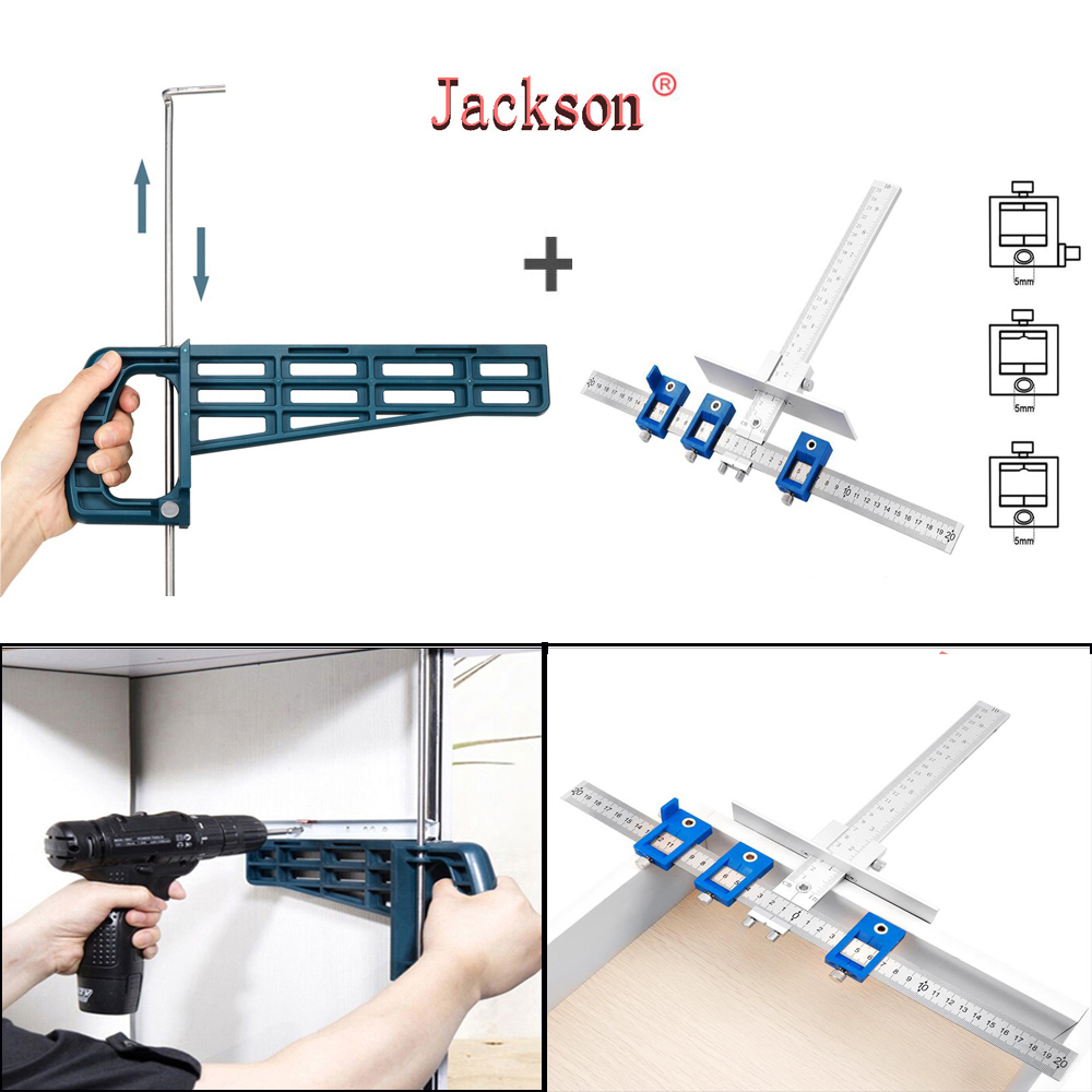 Woodworking  Universal Magnetic Drawer Slide Jig Set Mounting Tool For Cabinet Furniture Extension Cupboard Hardware Install Gui
