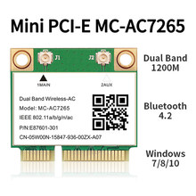 1200 Мбит/с Bluetooth 4,2 Половина Mini PCI-E Wi-Fi кард-MC-AC7265 Беспроводной AC7265 802.11ac 2,4 г Wi-Fi 5 ГГц для ноутбука Intel 7260 7260HMW