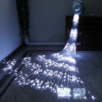 220V 6X3M 640 Leds Waterfall Curtain String Light Meteor Shower Rain Fairy String Garland Christmas Wedding Icicle Light