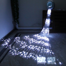 цена 220V 6X3M  640 Leds Waterfall Curtain String Light Meteor Shower Rain Fairy String Garland Christmas Wedding Icicle Light онлайн в 2017 году