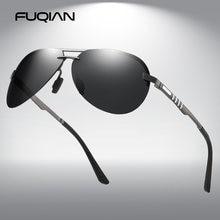 Мужские солнцезащитные очки без оправы fuqian поляризационные