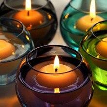 Горячие 10 шт маленькие неароматизированные плавающие свечи для свадебной вечеринки, праздника, домашнего декора, свечи, украшение на год, Рождество