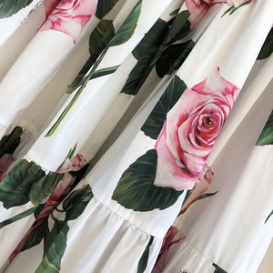 Image 4 - グランドデザイナースカート女性のためのトップ品質の高級花プリントふくらはぎスカート女性のための 2020