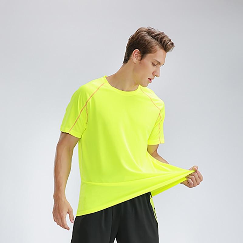 Man T-shirts muscle Training Sportswear Bodybuilding Slim tshirt Dry Quick Short Sleeve Slim Sport T Shirt