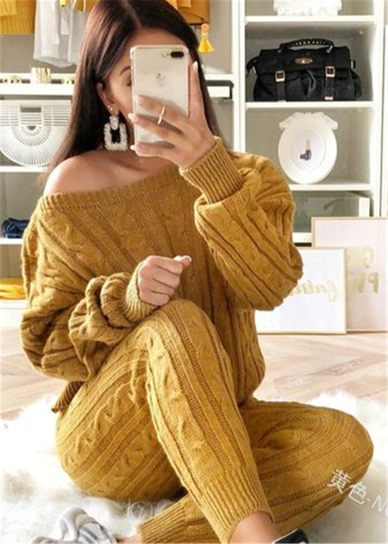 Retro Hot 2019 New Ladies Women's Suit Summer Sweater Joggers Plain Lounge Wear Tracksuit Lounge Wear Casual Loose Solid Sets
