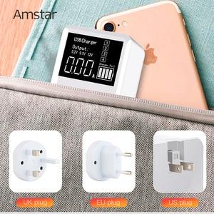 Image 5 - Amstar cargador USB tipo C para iPhone, Samsung, Huawei, adaptador de pared de viaje, carga rápida 3,0, 30W, pantalla LED