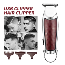 Rechargeable Hair Clipper Barber Professional Hair Clipper Men Electric Cutting Machine Household Hair Trimmer Low Noise Clipper 100 240v low noise hair cutting machine clipper trimmer titanium ceramic blade hair trimmer cutter tools barber machine men cut