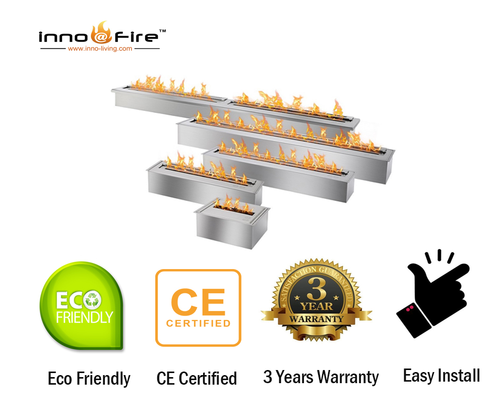 Hot Sale 36 Inch Liquid Bio Ethanol Fireplace Stainless Steel