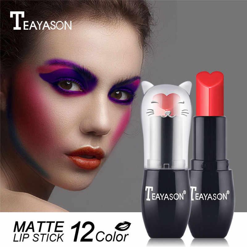 12 Warna Gadis Matte Lipstik Pasta Kacang Beludru Warna Seksi Merah Tahan Air Tahan Lama Alami Warna Nude Lipstik Kosmetik TSLM1 Baru