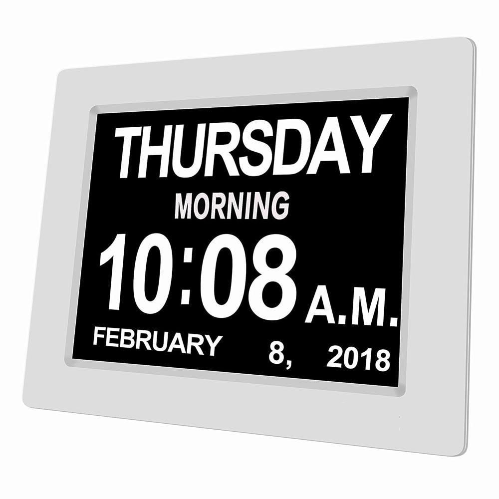8 язык цифровой будильник очень большой несокращенный электронный день часы потеря памяти пожилых людей и обесценение зрения 8 дюймов|Будильники| | АлиЭкспресс