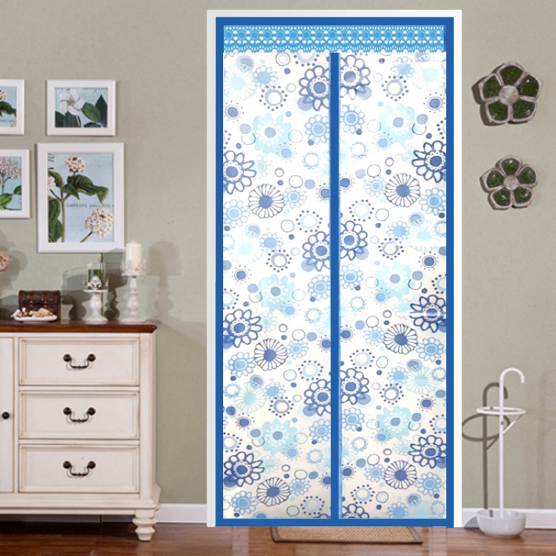 Air Conditioner Room/Kitchen Magnetic Screen Door Magnetic Thermal Insulated Mesh Screen Door Curtain