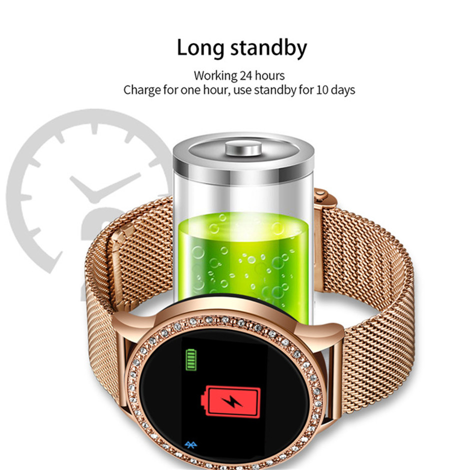 Hc28dad0343da445d8caf33742eeb4f0ec LIGE New Smart Bracelet Women Health Watch Activity Fitness Tracker Blood Pressure Heart Rate Monitor Smart Wristband fit bit