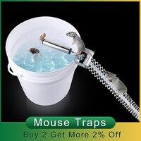 Trampa para ratones automática de acero inoxidable, barra rodante, trampa para ratones, Control de plagas, Mata roedores