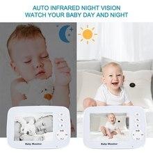CYSINCOS Baby Monitor Wireless Video Nanny 3.2 Inch TFT LCD Baby Nursery IR Night Vision 2 Way Talk Temperature Sensor Lullabies