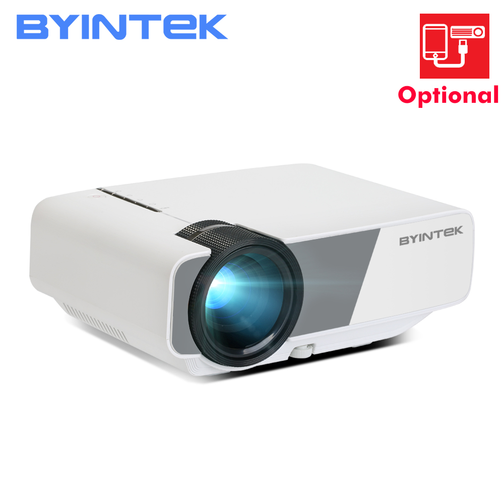 Mini proyector de vídeo LED BYINTEK SKY K1/K1plus para cine en casa (opcional: compatible con la conexión a la proyección del smartphone) Mini cámara para niños juguetes educativos para niños regalos para bebés cumpleaños cámara digital de regalo 1080P cámara de vídeo de proyección
